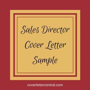 Director marketing sales cover letter